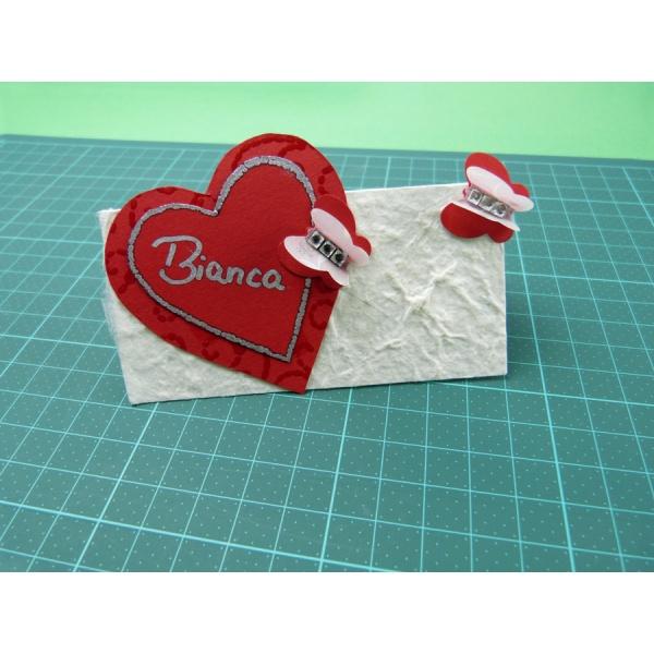 Tischkarten Hochzeit basteln  bezaubernd schöne Bastelpapiere zur ...