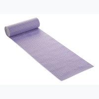 Karo Tischband flieder, 20 cm breit, 10 m Rolle
