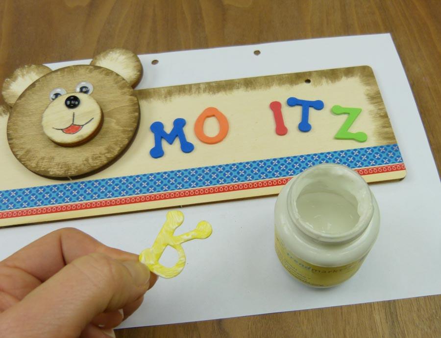 Türschild Kinderzimmer basteln - DIY Bastelideen