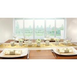 Tischdeko Gold Creme Tischdekorationen Trendmarkt24