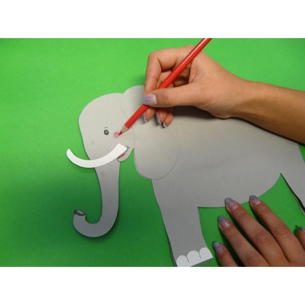 Elefant Basteln Aus Schonem Tonkarton