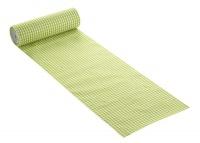 Karo Tischband hellgrün, 20 cm breit, 10 m Rolle