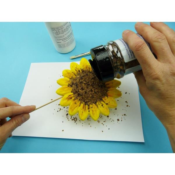 sonnenblume basteln wundersch ner blumenstecker mit einer sonnenblume. Black Bedroom Furniture Sets. Home Design Ideas
