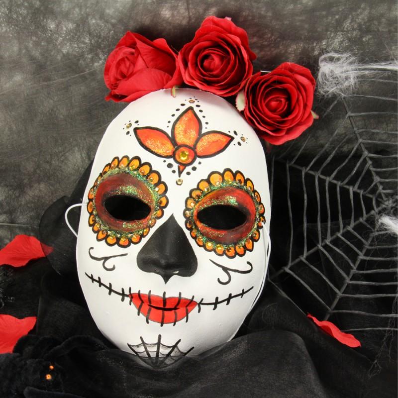 Tolle bastelideen bastelanleitungen und super bastelvideos zum nachbasteln - Mexikanische totenmaske schminken ...