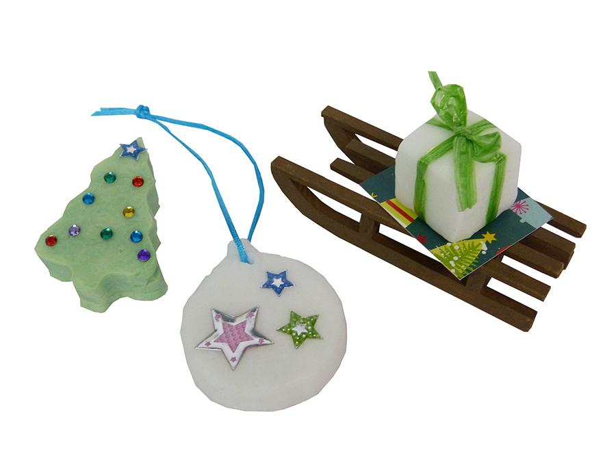 Kleine Seifen als Weihnachtsgeschenke herstellen | trendmarkt24