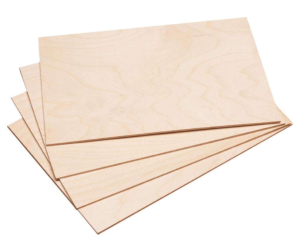10x Holzplatte Din A4 210x297 Mm Aus Birkensperrholz