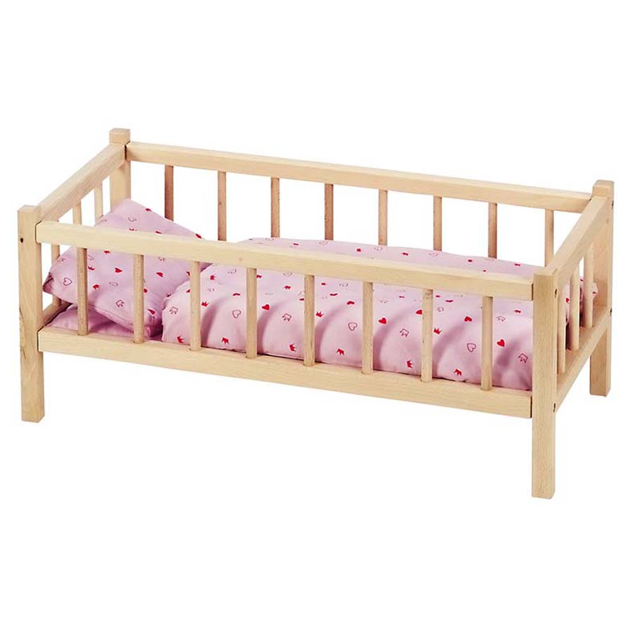 puppenbett aus holz trendmarkt24 kindergeschenke. Black Bedroom Furniture Sets. Home Design Ideas
