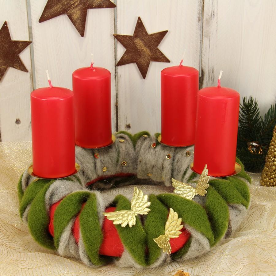 Bastelideen Weihnachten.Adventskranz Basteln Zu Weihnachten