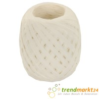 Papierkordel weiß | Papier Raffia 5 mm breit x 50 m lang