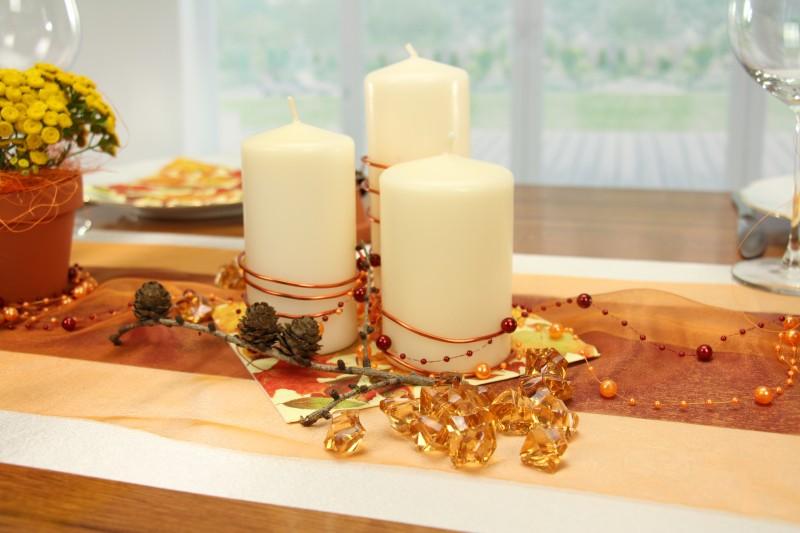 Herbstliche Tischdeko Gestalteter Mustertisch