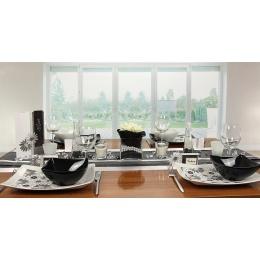 tischdeko schwarz wei tischdekorationen trendmarkt24. Black Bedroom Furniture Sets. Home Design Ideas