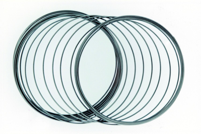 drahtspirale gro er armreif f r erwachsene ca 6 cm 60 ringe. Black Bedroom Furniture Sets. Home Design Ideas