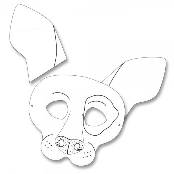 Kindermasken Hund 6 Stück | saisonales Basteln | Kindergeburtstag