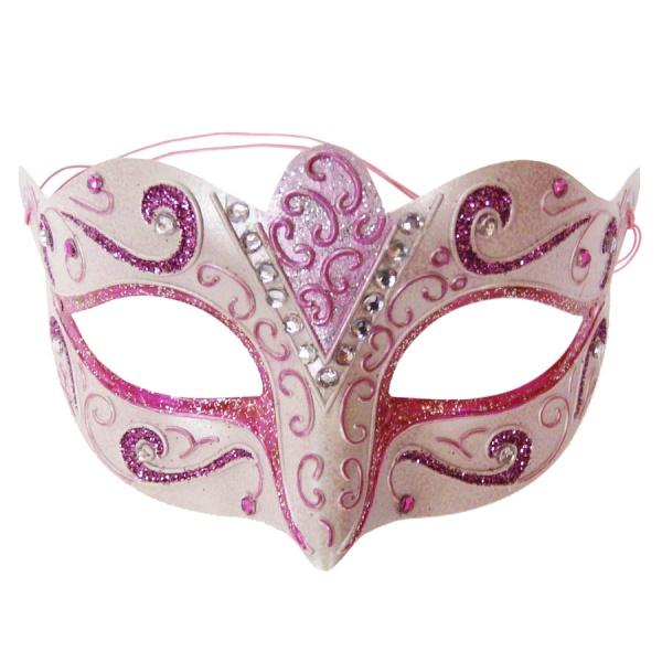 Faschingsmasken selber basteln mit farbe und glitter gelingt diese maske immer - Bastelideen zu karneval ...