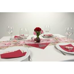 Tischdeko Rosa Creme Fest Tischdekorationen