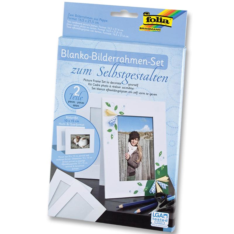 Bilderrahmen 2er Pack weiß   Blanko Bilderrahmen zum Selbstgestalten