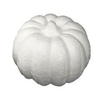 Styropor Kürbis weiß 11 cm, einzeln