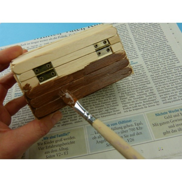 Eine Schatzkiste Basteln Eine Holzkiste Schon Gestalten Und Zur