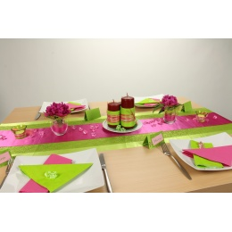 Tischdeko Grun Pink Tischdekorationen Trendmarkt24