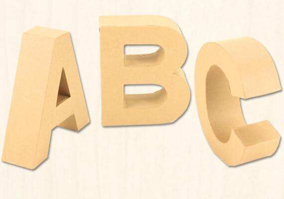 Pappbuchstaben von A - Z | trendmarkt24 Bastelshop