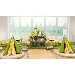 Tischdeko Grun Gelb Tischdekorationen Trendmarkt24