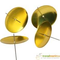 Metallkerzenhalter Farbe gold für Adventskranz Kerzen Halter 4 Stück