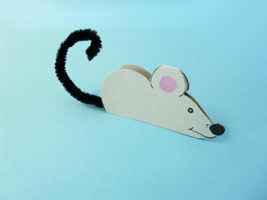 Eine Lustige Maus Basteln Aus Papier So Geht Es